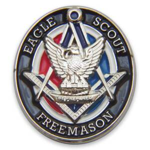 Masonic Eagle Scout Lapel Pin